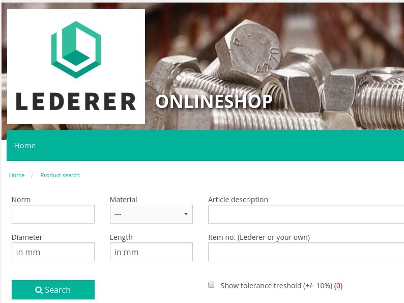 New Lederer Online Shop