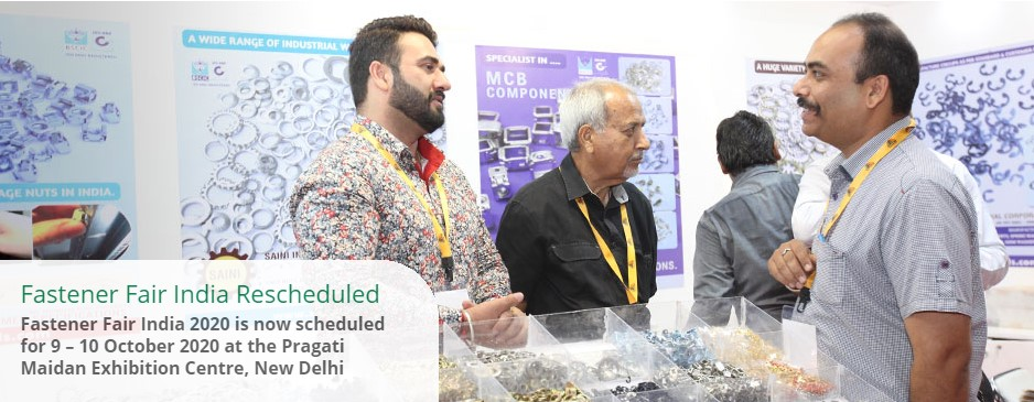 Fastener Fair Delhi is scheduled to 9-10 October 2020