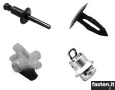 Plastic fast fixings and screw grommets