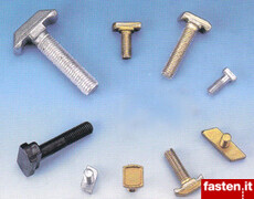 T-head bolts, hammer head and anchor head screws