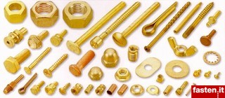 Brass, copper and bronze fasteners