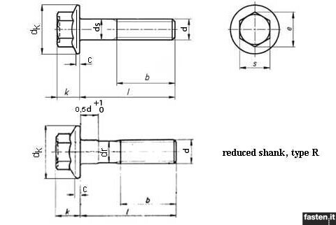 Hexagon Flange Bolts With Fine Pitch Small Series