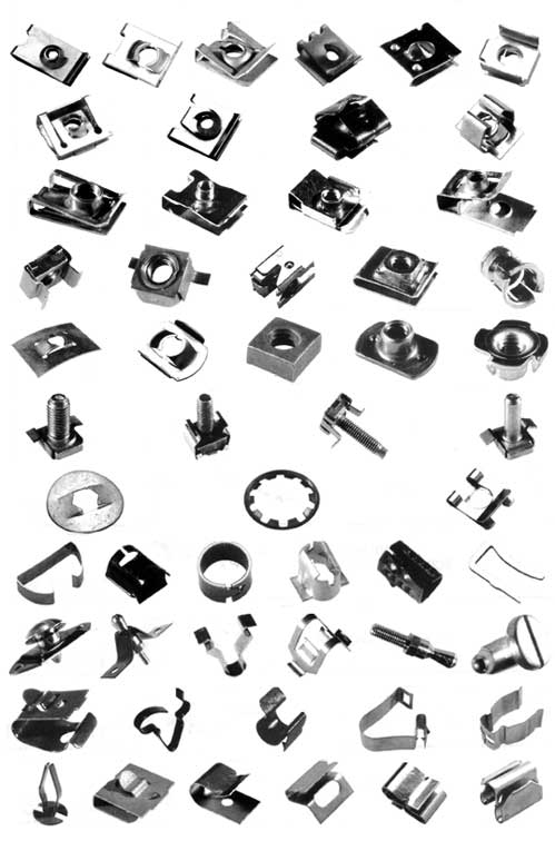 Metal Fast Fixings Clips Nuts